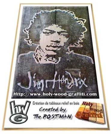 Jimi Hendrix par tableau-personnalise
